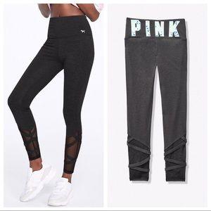 Vs Pink Strappy Ankle Legging Grey L